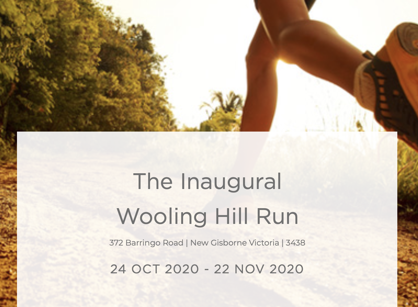 The Inaugural Wooling Hill Run
